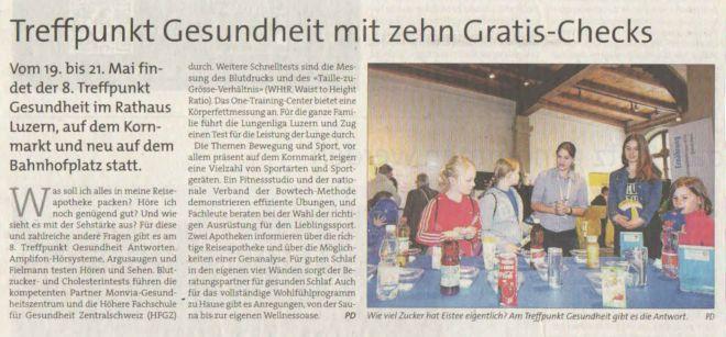 Anzeiger Luzern 18. Mai 2016