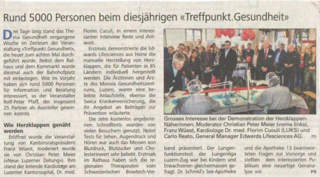 Luzerner Zeitung 27. Mai 2016