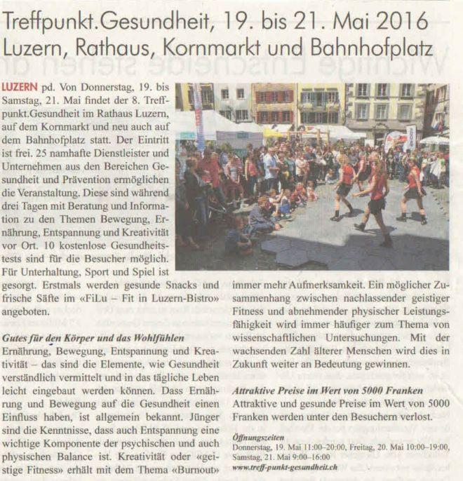 Rigi Anzeiger 18. Mai 2016